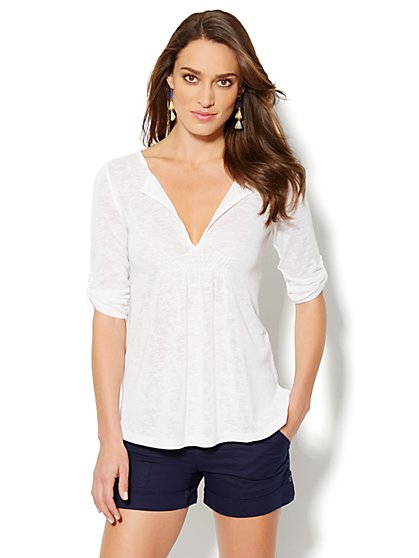 Love, NY&C Collection - Split-Neck Tunic