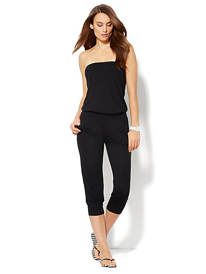 Love, NY&C Collection - Strapless Knit Jumpsuit - New York & Company