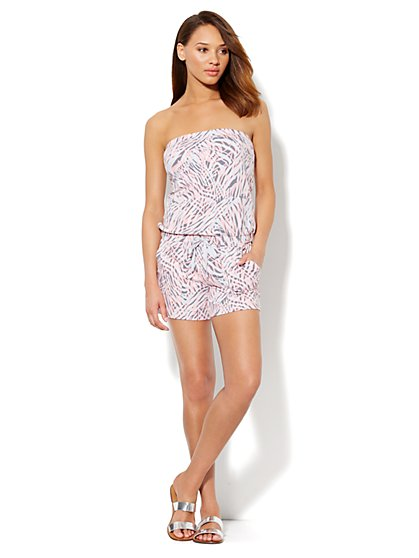 Love, NY&C Collection - Strapless Print Romper