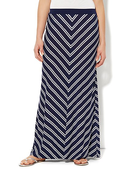 Love, NY&C Collection - Stripe Maxi Skirt