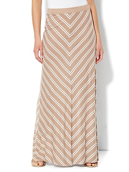 Love, NY&C Collection - Stripe Maxi Skirt - New York & Company