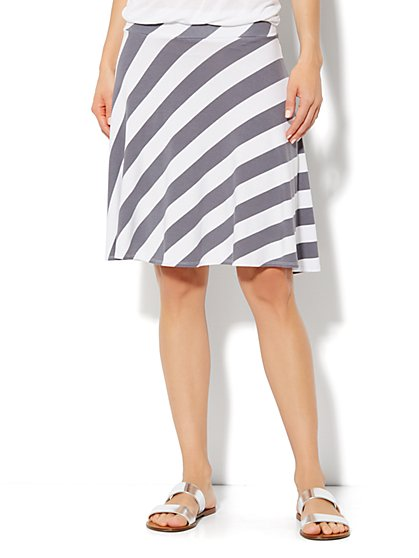 Love, NY&C Collection - Stripe Skater Skirt - New York & Company