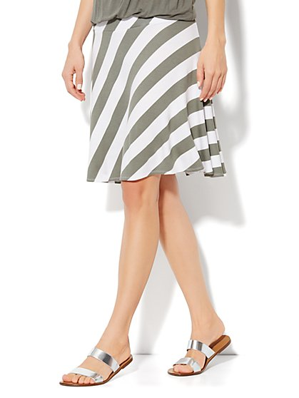 Love, NY&C Collection - Stripe Skater Skirt