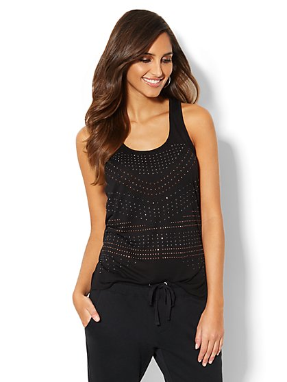 Love, NY&C Collection - Studded Racerback Tank Top - New York & Company