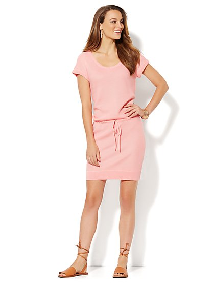 Love, NY&C Collection - Textured Tee Dress  - New York & Company