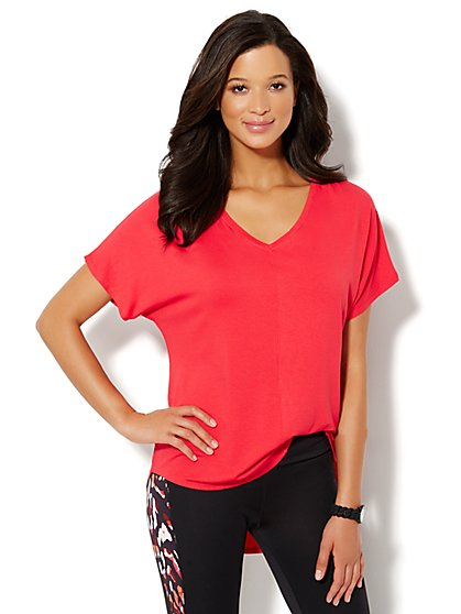 Love, NY&C Collection - V-Neck Hi-Lo Tee - New York & Company