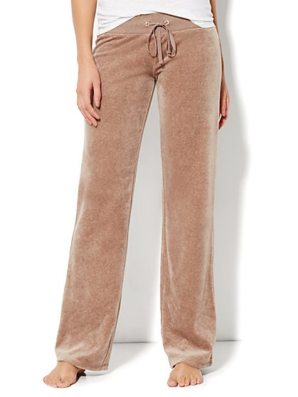 Love, NY&C Collection - Velour Straight-Leg Pant - Average - New York & Company