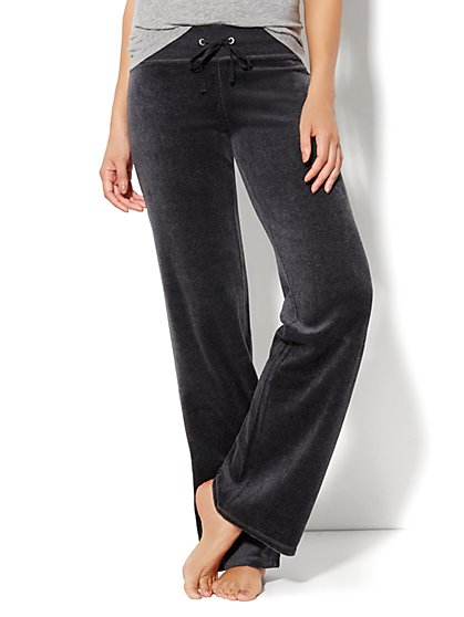 Love, NY&C Collection - Velour Straight-Leg Pant - Average - New York & Company