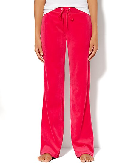 Love, NY&C Collection - Velour Straight-Leg Pant - Petite - New York & Company