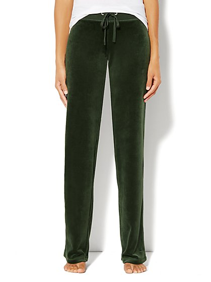 Love, NY&C Collection - Velour Straight-Leg Pant - Petite - New York & Company