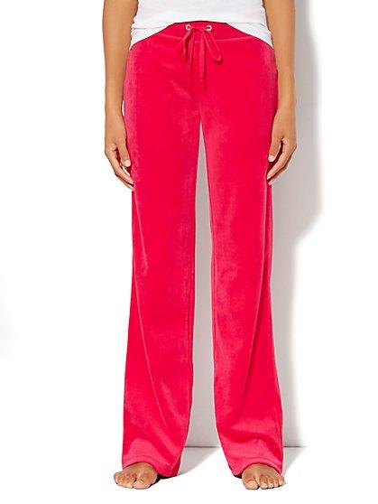 Love, NY&C Collection - Velour Straight-Leg Pant - Tall - New York & Company