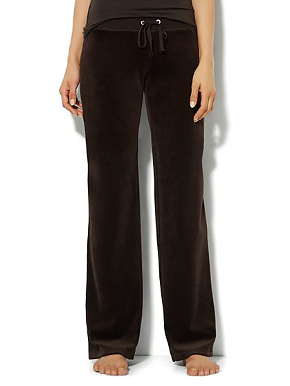 Love, NY&C Collection - Velour Straight-Leg Pant - Tall - New York & Company