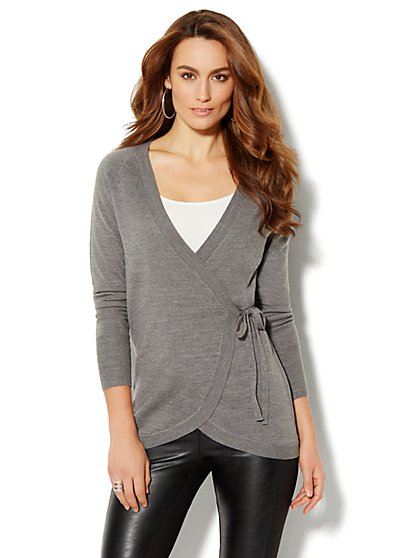 Love, NY&C Collection - Wrap Sweater - New York & Company