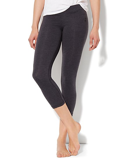 Love, NY&C Collection - Yoga Crop Legging - Heather Grey