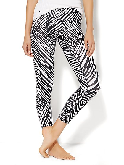 Love, NY&C Collection - Yoga Crop Legging - Zebra Print  - New York & Company