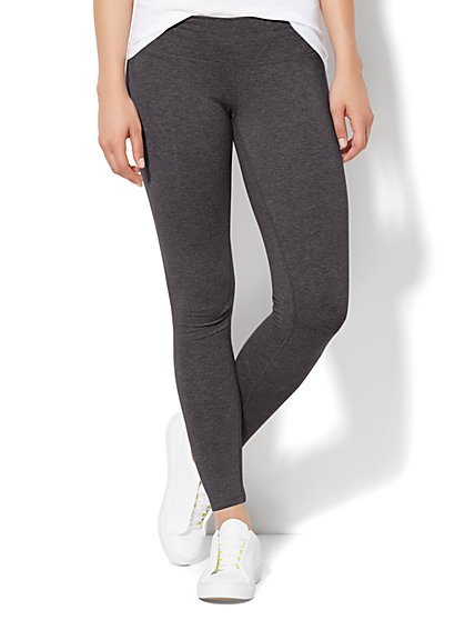 Love, NY&C Collection - Yoga Legging - Graphite Heather Grey - New York & Company