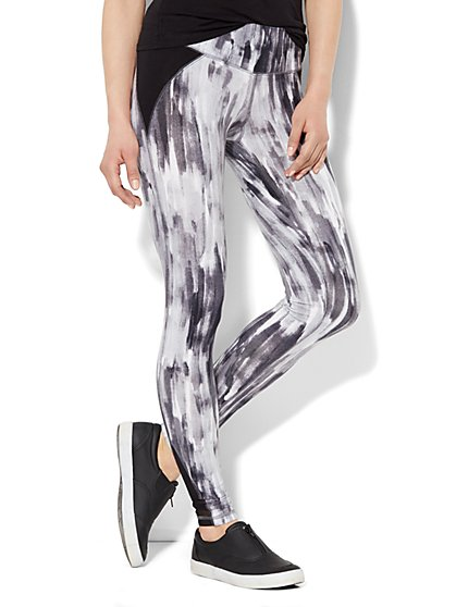 Love, NY&C Collection - Yoga Pant - Brushstroke Print  - New York & Company