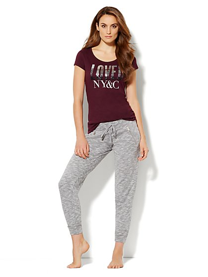 Love, NY&C Company - Ombre Sequin Loved Logo Tee  - New York & Company