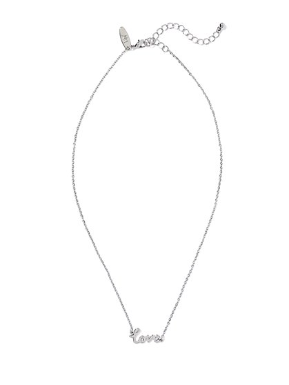 Love Script Pendant Necklace  - New York & Company
