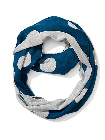 Lurex Dot Infinity Scarf  - New York & Company