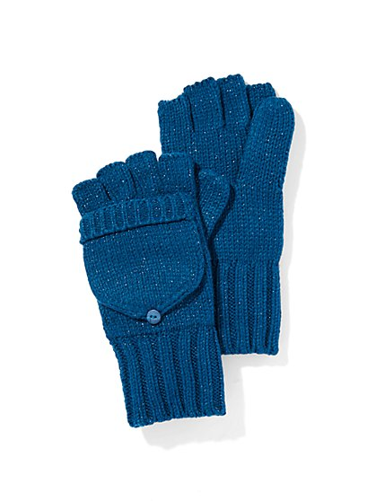 Lurex Flip-Top Glove  - New York & Company