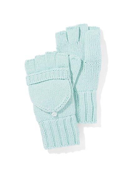 Lurex Flip-Top Glove  - New York & Company