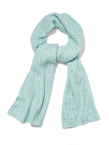 Lurex Knit Scarf  - New York & Company