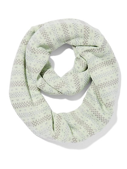 Lurex Stripe Infinity Scarf  - New York & Company