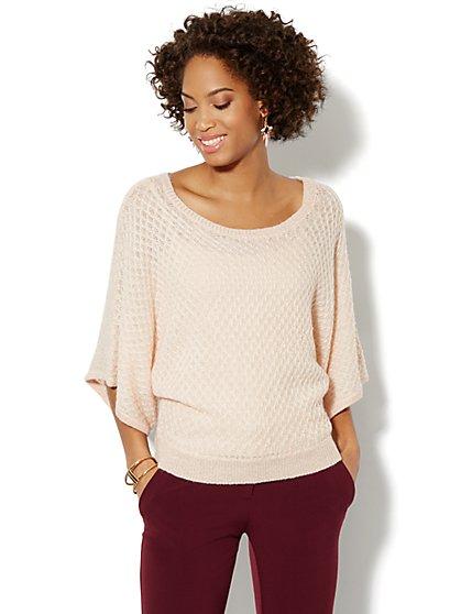 Lurex Textured Dolman Sweater - New York & Company