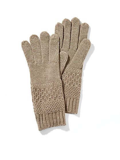 Lurex Textured Gloves - New York & Company
