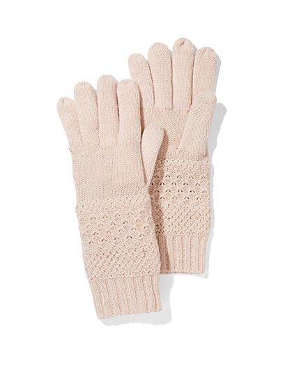 Lurex Textured Gloves - New York & Company