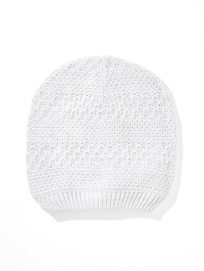Lurex Textured Hat  - New York & Company