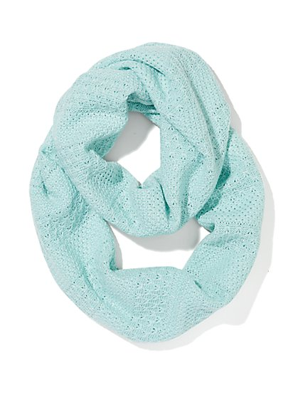 Lurex Textured Infinity Scarf  - New York & Company