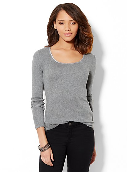 Lurex-Trim Madison Top  - New York & Company