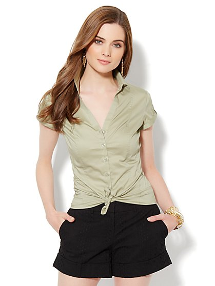 Madison Shirt - Button-Front Short Sleeve