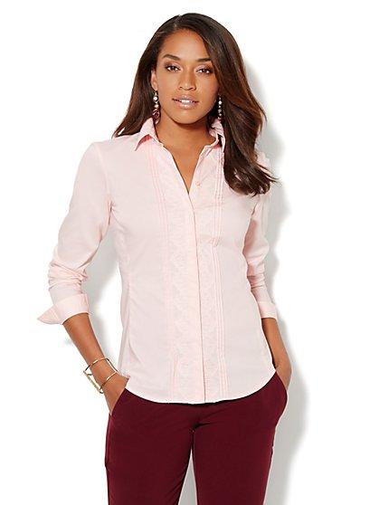 Madison Shirt - New Secret Snap Design - Lace-Front - New York & Company