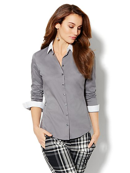 Madison Shirt - New SecretSnap Design - Contrast Trim - New York & Company