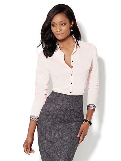 Madison Shirt - New SecretSnap Design - Lace Collar  - New York & Company