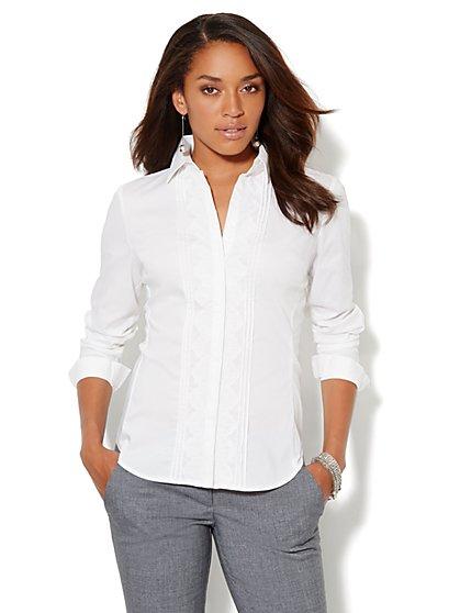 Madison Shirt - New SecretSnap Design - Lace-Front - New York & Company