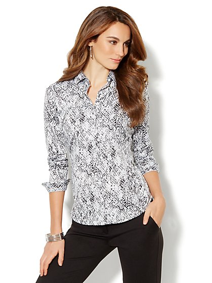 Madison Shirt - New SecretSnap Design - Print - New York & Company