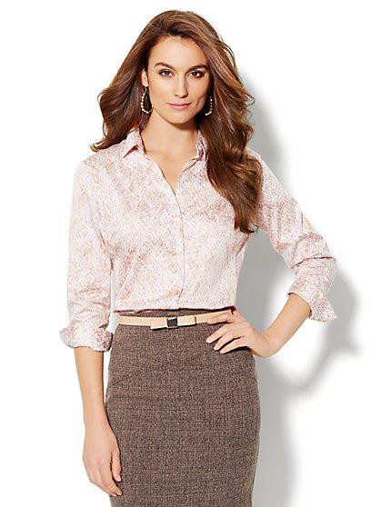 Madison Shirt - New SecretSnap Design - Print - New York & Company