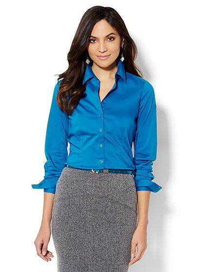 Madison Shirt - New SecretSnap Design - Solid  - New York & Company