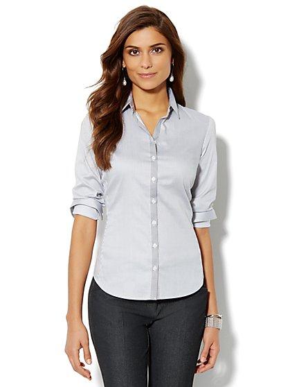 Madison Shirt - New SecretSnap Design - Stripe - New York & Company