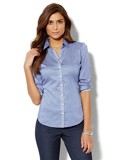 Madison Shirt - New SecretSnap Design - Stripe - New York & Company