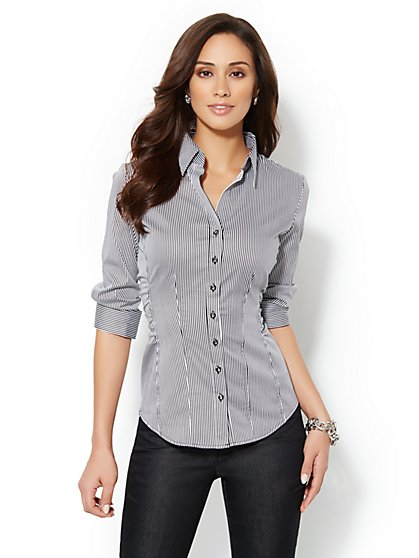 Madison Shirt - Pinstripe Print