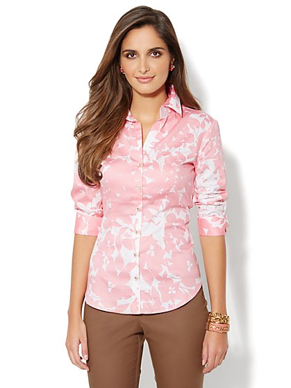 Madison Stretch Shirt - Floral