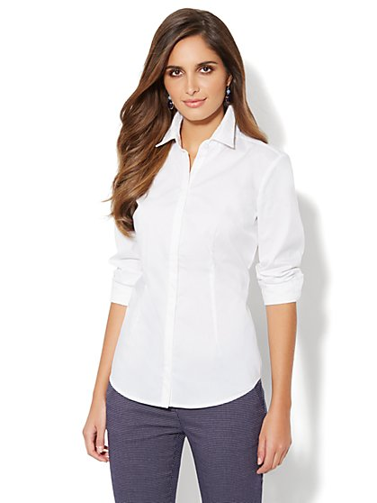 Madison Stretch Shirt - Lace-Trim