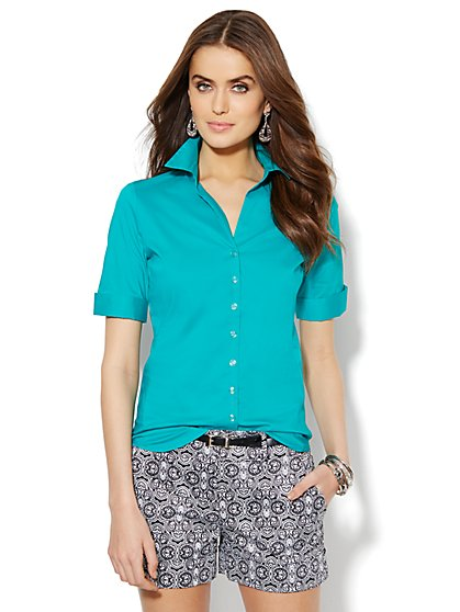 Madison Stretch Shirt - Petite - New York & Company