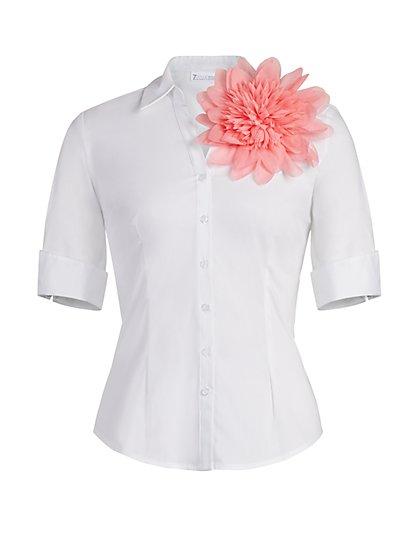Madison Stretch Shirt - Secret Snap - 7th Avenue - New York & Company