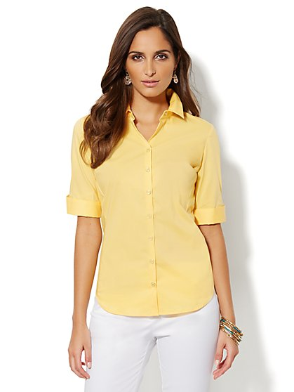 Madison Stretch Shirt - Solid - New York & Company